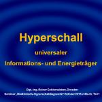 1 Hyperschall – universaler Informations- und Energieträger