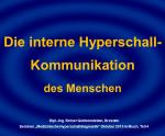 4 Die interne Hyperschall-Kommunikation