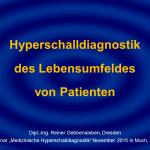 9 Hyperschalldiagnostik Lebensumfeld